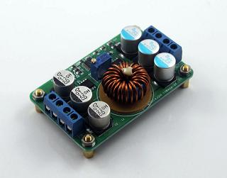 step-down, 16~40V input, output 1~12V adjustable, Max 6 Amp out